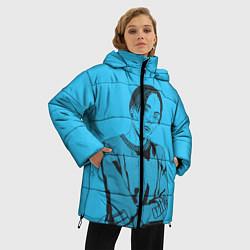 Женская зимняя 3D-куртка с капюшоном с принтом T-Fest, цвет: 3D-черный, артикул: 10182183106071 — фото 2