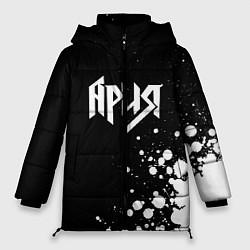 Женская зимняя 3D-куртка с капюшоном с принтом Ария, цвет: 3D-черный, артикул: 10182318906071 — фото 1