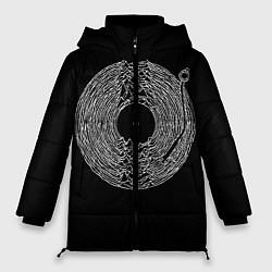 Женская зимняя 3D-куртка с капюшоном с принтом Joy Division, цвет: 3D-черный, артикул: 10183424106071 — фото 1