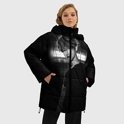 Женская зимняя 3D-куртка с капюшоном с принтом Stray Kids, цвет: 3D-черный, артикул: 10184762506071 — фото 2