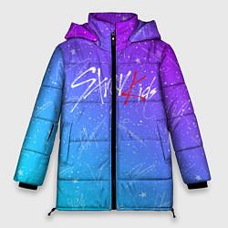 Женская зимняя 3D-куртка с капюшоном с принтом STRAY KIDS АВТОГРАФЫ, цвет: 3D-черный, артикул: 10185292906071 — фото 1