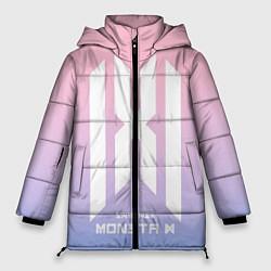 Женская зимняя 3D-куртка с капюшоном с принтом Monsta X, цвет: 3D-черный, артикул: 10187558906071 — фото 1