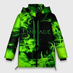 Женская зимняя 3D-куртка с капюшоном с принтом LINEAGE 2, цвет: 3D-черный, артикул: 10202647506071 — фото 1