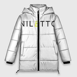 Женская зимняя 3D-куртка с капюшоном с принтом NILETTO, цвет: 3D-черный, артикул: 10211151706071 — фото 1