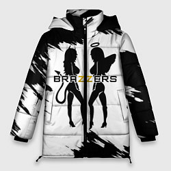 Женская зимняя 3D-куртка с капюшоном с принтом Brazzers, цвет: 3D-черный, артикул: 10211210906071 — фото 1