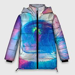 Куртка зимняя женская Космонавт - космос цвета 3D-черный — фото 1