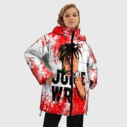 Женская зимняя 3D-куртка с капюшоном с принтом Juice WRLD, цвет: 3D-черный, артикул: 10212959906071 — фото 2