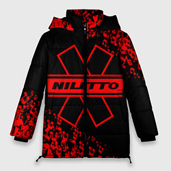 Женская зимняя 3D-куртка с капюшоном с принтом NILETTO, цвет: 3D-черный, артикул: 10213513106071 — фото 1