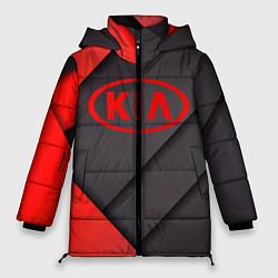 Женская зимняя 3D-куртка с капюшоном с принтом KIA, цвет: 3D-черный, артикул: 10249654306071 — фото 1