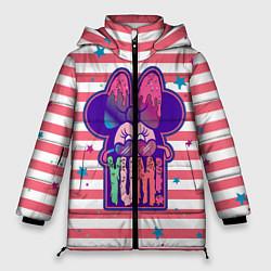 Женская зимняя 3D-куртка с капюшоном с принтом Minnie Mouse YUM!, цвет: 3D-черный, артикул: 10250082506071 — фото 1