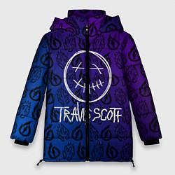 Женская зимняя 3D-куртка с капюшоном с принтом TRAVIS SCOTT, цвет: 3D-черный, артикул: 10268529706071 — фото 1