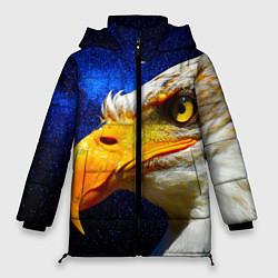 Женская зимняя 3D-куртка с капюшоном с принтом ОРЕЛ, цвет: 3D-черный, артикул: 10268867906071 — фото 1