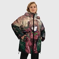 Женская зимняя 3D-куртка с капюшоном с принтом Аска Евангелион, цвет: 3D-черный, артикул: 10282582506071 — фото 2