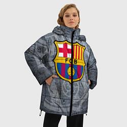Женская зимняя 3D-куртка с капюшоном с принтом Barcelona, цвет: 3D-черный, артикул: 10063906106071 — фото 2