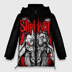 Куртка зимняя женская Slipknot цвета 3D-черный — фото 1