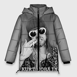 Куртка зимняя женская Кобейн в очках цвета 3D-черный — фото 1