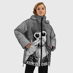 Куртка зимняя женская Кобейн в очках цвета 3D-черный — фото 2