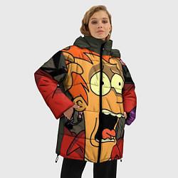 Куртка зимняя женская Frai Horrified цвета 3D-черный — фото 2