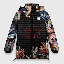 Куртка зимняя женская Pink Floyd: The Wall цвета 3D-черный — фото 1