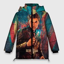 Женская зимняя 3D-куртка с капюшоном с принтом Доктор кто, цвет: 3D-черный, артикул: 10065373406071 — фото 1