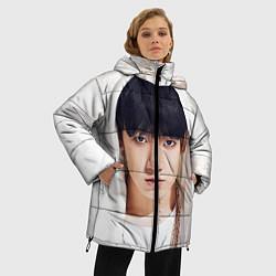 Женская зимняя 3D-куртка с капюшоном с принтом Jeon Jung Kook, цвет: 3D-черный, артикул: 10076888306071 — фото 2