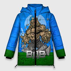 Женская зимняя 3D-куртка с капюшоном с принтом ВДВ, цвет: 3D-черный, артикул: 10077774806071 — фото 1