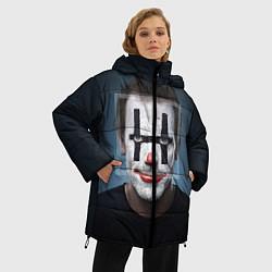 Женская зимняя 3D-куртка с капюшоном с принтом Clown House MD, цвет: 3D-черный, артикул: 10079018306071 — фото 2