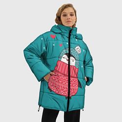 Куртка зимняя женская Пингвинчик цвета 3D-черный — фото 2
