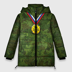 Куртка зимняя женская Самый лучший дед цвета 3D-черный — фото 1