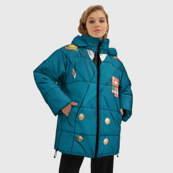 Куртка зимняя женская Китель цвета 3D-черный — фото 2