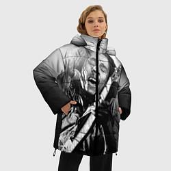 Куртка зимняя женская Боб Марли поет цвета 3D-черный — фото 2