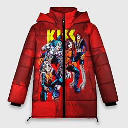 Куртка зимняя женская KISS: Hot Blood цвета 3D-черный — фото 1