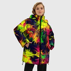 Куртка зимняя женская Кислотный взрыв - фото 2