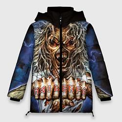 Женская зимняя 3D-куртка с капюшоном с принтом Iron Maiden: Maidenfc, цвет: 3D-черный, артикул: 10089881006071 — фото 1