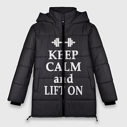 Куртка зимняя женская Keep Calm & Lift On цвета 3D-черный — фото 1