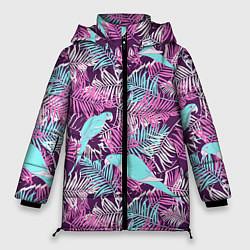 Женская зимняя 3D-куртка с капюшоном с принтом Summer paradise, цвет: 3D-черный, артикул: 10096430306071 — фото 1