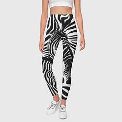 Леггинсы женские Полосатая зебра цвета 3D-принт — фото 2