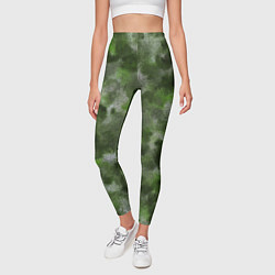 Леггинсы женские Canvas Green Camo цвета 3D-принт — фото 2