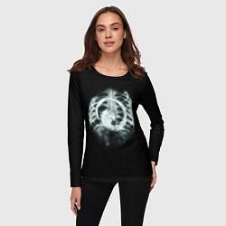 Лонгслив женский Чужой в желудке цвета 3D-принт — фото 2