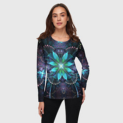 Лонгслив женский Астральная мандала цвета 3D-принт — фото 2