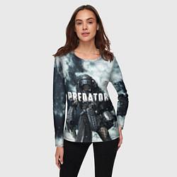 Лонгслив женский Winter Predator цвета 3D-принт — фото 2