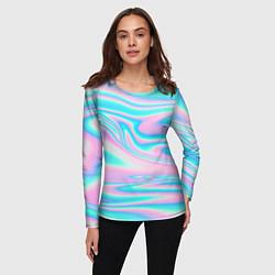 Лонгслив женский WAVES цвета 3D — фото 2