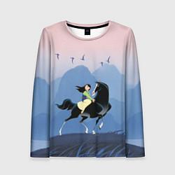 Лонгслив женский Mulan in the mountains цвета 3D-принт — фото 1