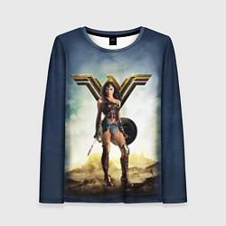 Лонгслив женский Wonder Woman цвета 3D-принт — фото 1