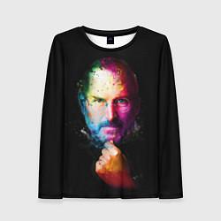 Лонгслив женский Стив Джобс цвета 3D — фото 1