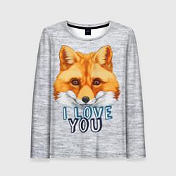 Лонгслив женский Милая лисичка! цвета 3D — фото 1