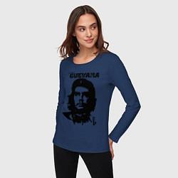 Лонгслив хлопковый женский Che Guevara цвета тёмно-синий — фото 2