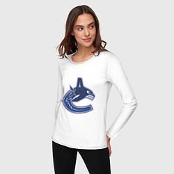 Лонгслив хлопковый женский Vancouver Canucks цвета белый — фото 2