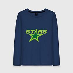Лонгслив хлопковый женский Dallas Stars цвета тёмно-синий — фото 1