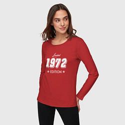 Лонгслив хлопковый женский Limited Edition 1972 цвета красный — фото 2